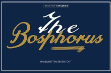 The Bosphorus Brush Font by  in Script Fonts