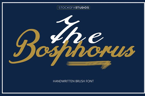 Fonts - The Bosphorus Brush Font