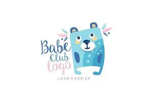 Babe club logo design, emblem with