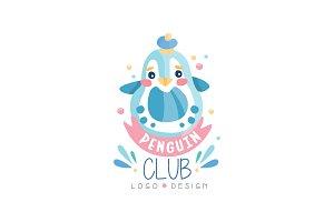 Penguin club logo design, emblem