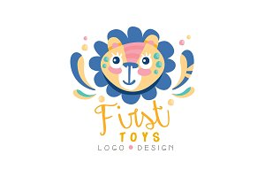 First toys logo design, badge with