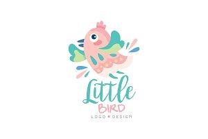 Little bird logo design, emblem