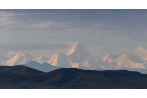 Alpine Mountain Peaks Panorama