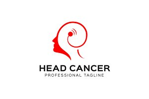 Head Cancer Logo Template