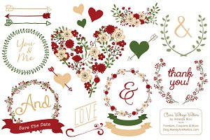 Christmas Wedding Vector Collection