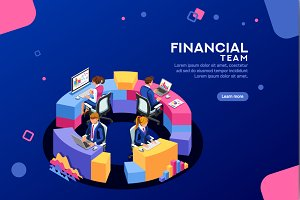 Financial Web Page Template Banner