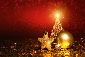 Christmas decoration - gold ornament