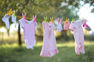 Pink baby wear outdoor