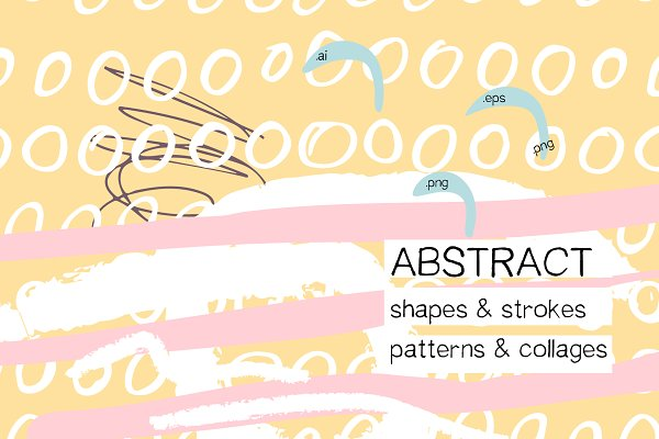 Abstract shapes. Collages & patterns