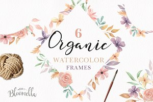 Floral Watercolour Flowers Frames