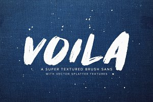 Voila | A Super Textured Brush Sans