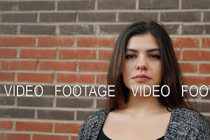 Slow motion portrait of a young