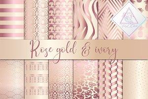 Rose Gold & Ivory Digital Paper