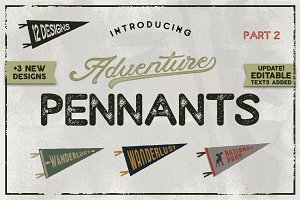 Vintage Pennants Set | Part 2