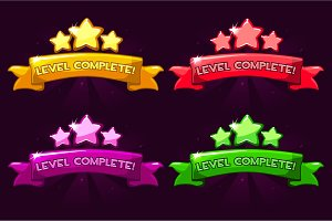 Level complete, colored ranking
