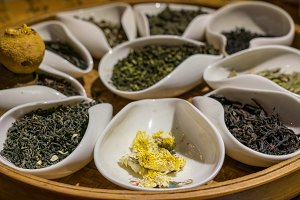 Collection of Chinese teas in