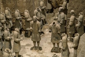Terracotta Army warriors buried in