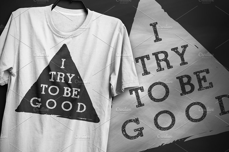 I try to be good - Typography Design
