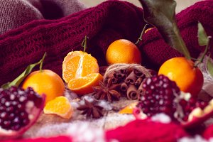 Warm winter with tangerines
