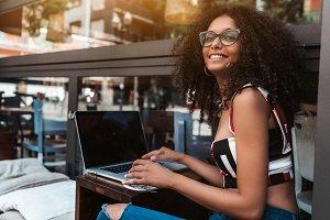 Female entrepreneur in glasses