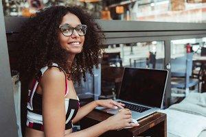 Beautiful hipster girl in eyeglasses