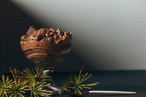 Festive dessert, Chocolate mousse in