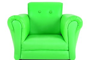 Classic Green leather armchair