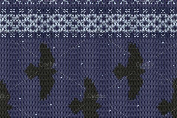 Knitted black ravens celtic ornament