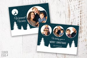 Christmas Card Photo Template