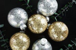 Glitter Christmas Ornaments