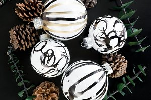 Modern Abstract Christmas Ornaments