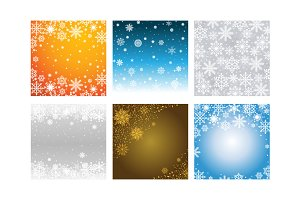 6 Winter Snow Snowflake Background