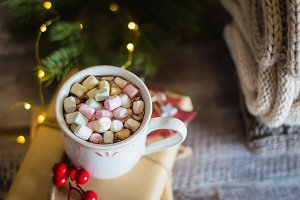 Winter warming sweet drink chocolate
