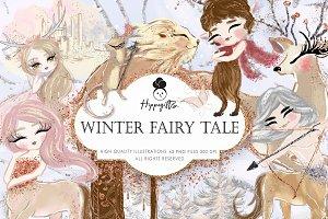 Winter Fairy Tale Clipart,Christmas