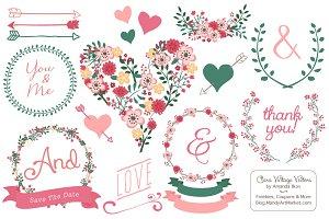 Rose Garden Floral Heart