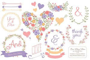 Wildflower Heart & Banners