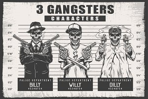Three gangsters