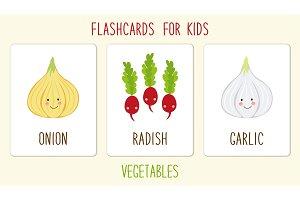 Set of cute vegetables kids