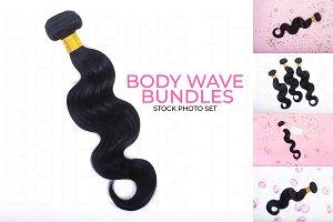 Hair Extension Bundles Stock Photos