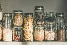 Rustic kitchen food storage by  in Food & Drink