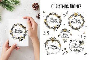 Christmas frames branches