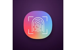 Fingerprint scanning app icon