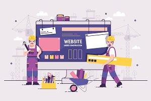 Website under construction concept