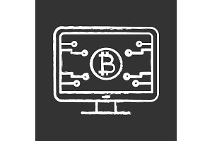 Bitcoin official webpage chalk icon