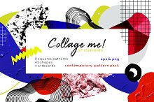 Collage me! Abstract art pattern set by  in Patterns