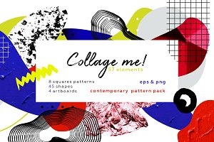 Collage me! Abstract art pattern set