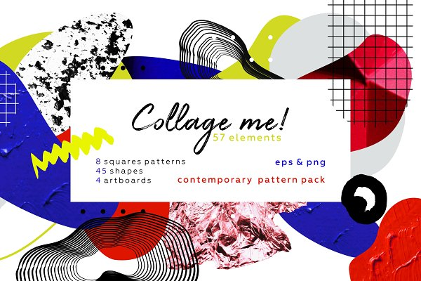 Patterns - Collage me! Abstract art pattern set