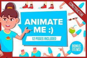 Girl Animation Cartoon Character