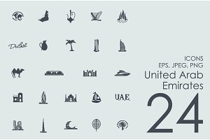 24 United Arab Emirates icons