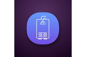 Gas water heater app icon
